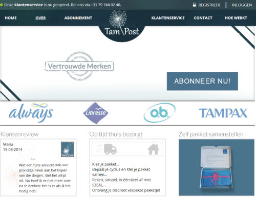 Tampost: gaat een tampon-startup niet te ver?