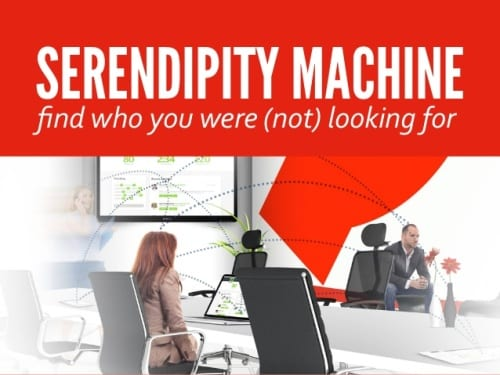 Met The Serendipity Machine plan je ongeplande ontmoetingen