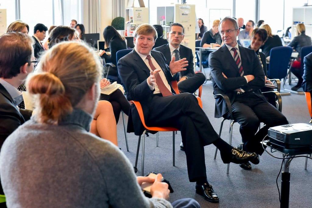 Koning Willem-Alexander op bezoek bij Startupbootcamp