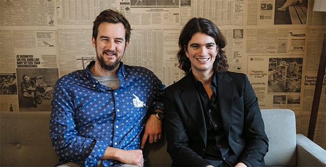 Adam en dddd, oprichters van WeWork