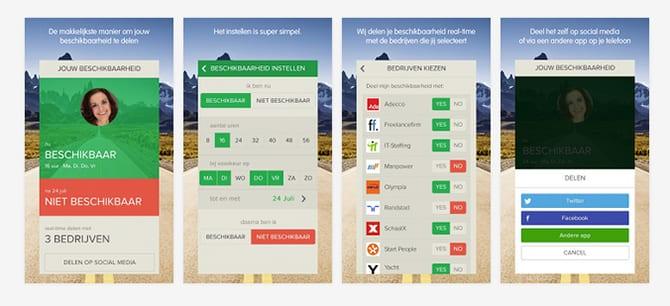 Nederlandse app Timebox brengt beschikbaarheid flexwerkers in kaart
