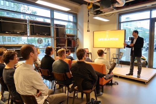 Dutch actor Mimoun Oaïssa shows how to pitch at Startup Launch Class