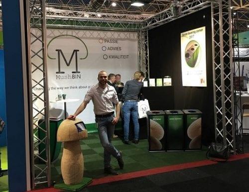 Student startup MushBIN raises €65K for innovative waste bins