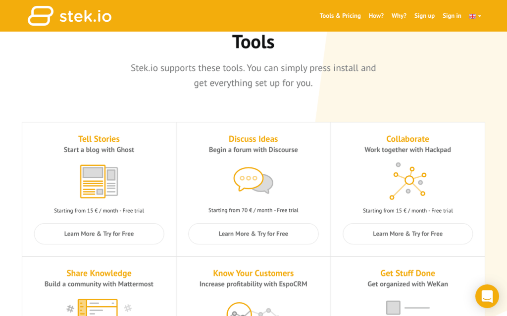 Stek.io Open Source Tools