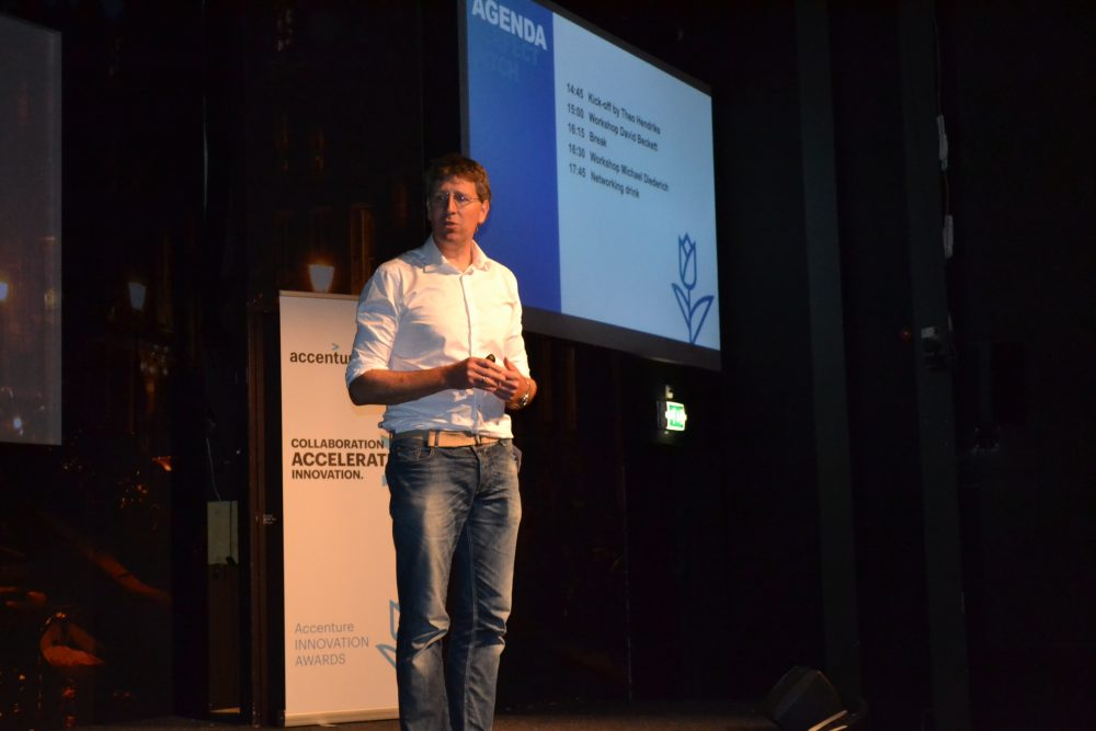 Van Oerle (Innovation Lead Netherlands at Accenture) advices you to make your pitch personal