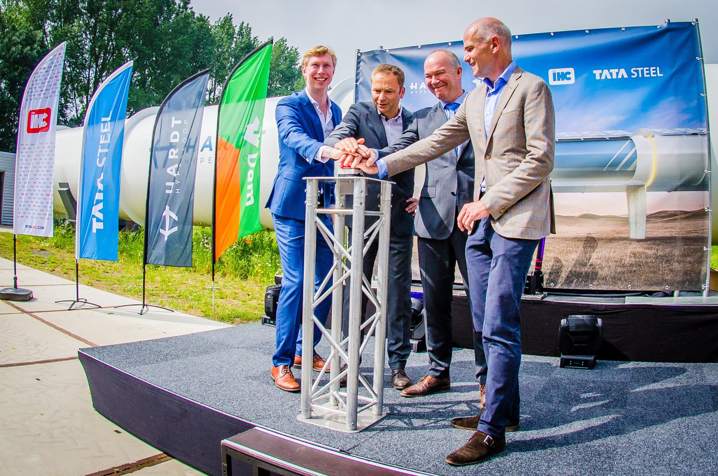 Tata Steel, Royal IHC and BAM partner with Delft startup Hardt Hyperloop