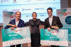 A mobile scanner for ambulance to measure brain waves wins Amsterdam Science & Innovation Award 2018