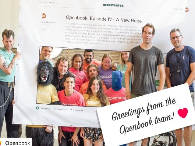 OpenBook raises €60,000 in Kickstarter Campaign: Is Facebook's biggest threat coming from the Netherlands?