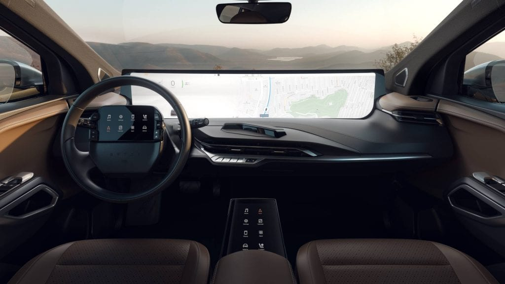 Rival alert for Tesla: Byton's M-Byte with a huge 48-inch all touchscreen dashboard is coming to Europe in 2020