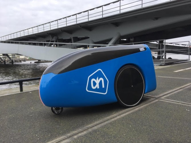 Groceries on wheels: Dutch retailer Albert Heijin unveils autonomous delivery robot 'Aitonomi'