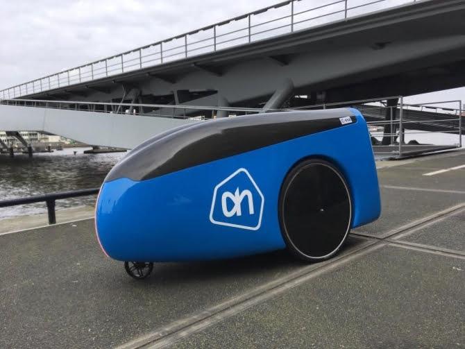 Groceries on wheels: Dutch retailer Albert Heijin unveils autonomous delivery robot 'Aitonomi'