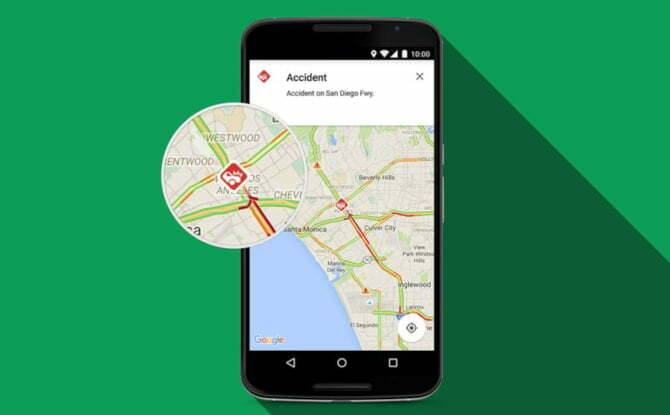 Now you can report an accident or a traffic congestion on