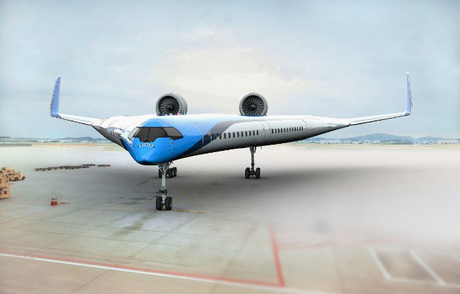 KLM and TU Delft join hands to design Flying-V aircraft concept that consumes 20% less fuel