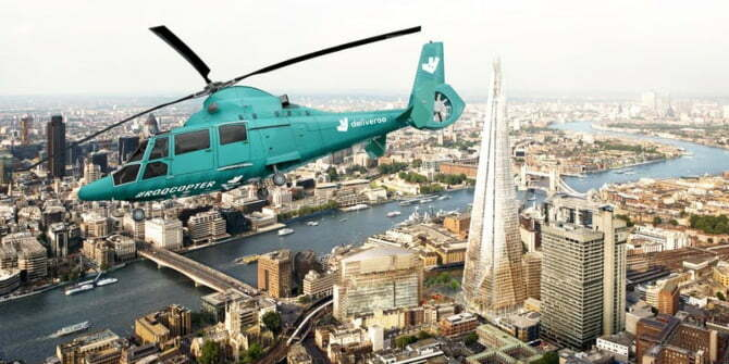 Deliveroo's helicopter dining experience is a must try, before you die