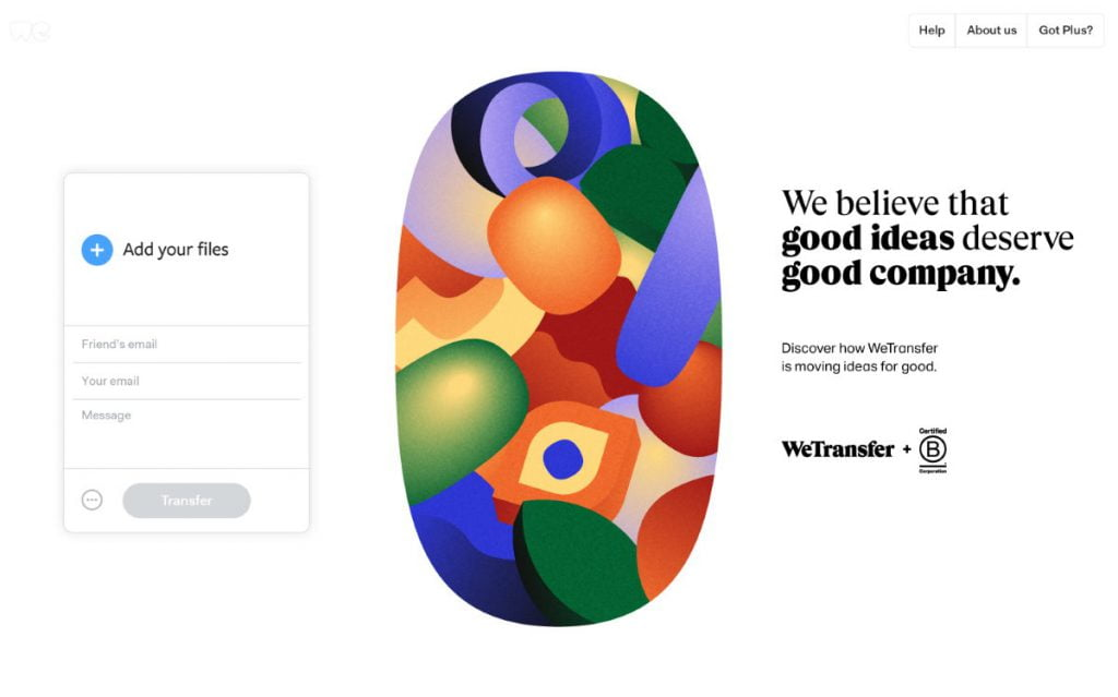 Wetransfer B corporation b corp